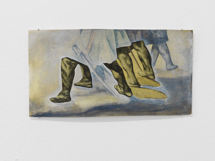 "Felix Klee, ""Spanish Boots Of Spanish Leather"", 2013 – 14,5 x 27,5 cm; Aquarell und Öl auf Papier"